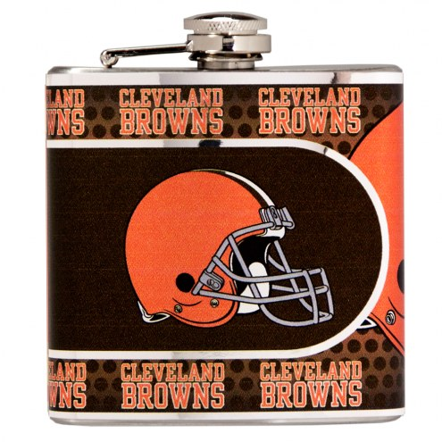 Cleveland Browns Hi-Def Stainless Steel Flask
