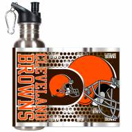 Cleveland Browns Hi-Def Stainless Steel Water Bottle