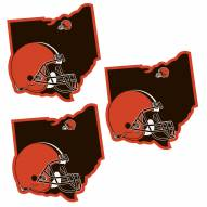 Cleveland Browns Home State Decal - 3 Pack