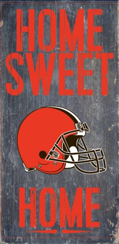 Cleveland Browns Home Sweet Home Wood Sign