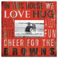 """Cleveland Browns In This House 10"""" x 10"""" Picture Frame"""