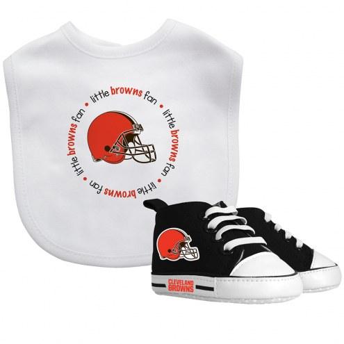 Cleveland Browns Infant Bib & Shoes Gift Set