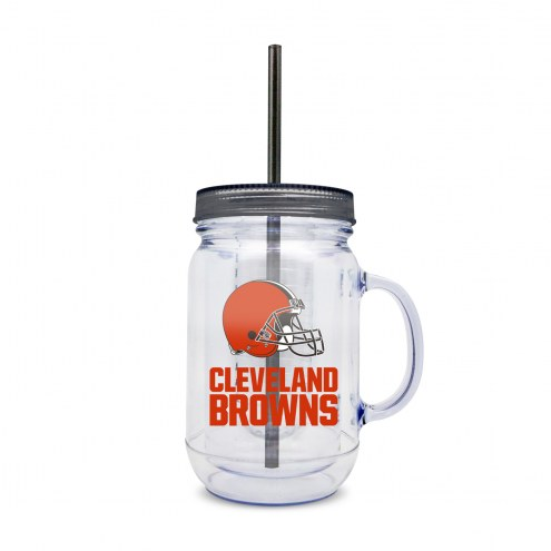 Cleveland Browns Infuser Double Wall Mason Jar