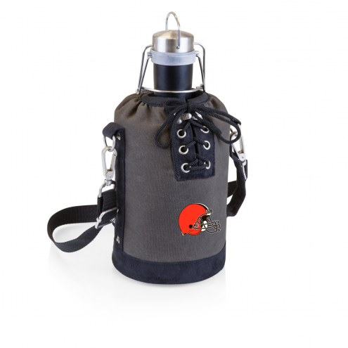 Cleveland Browns Insulated Growler Tote with 64 oz. Stainless Steel Growler