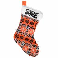 Cleveland Browns Knit Christmas Stocking