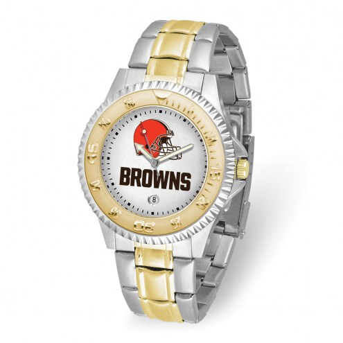 Cleveland Browns Competitor Two-Tone Men's Watch