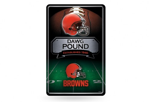 Cleveland Browns Large Embossed Metal Wall Sign