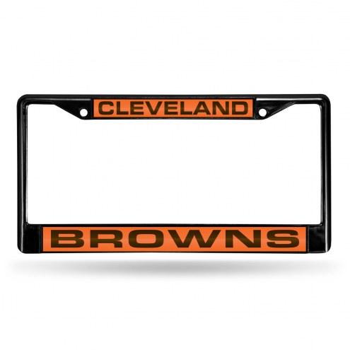 Cleveland Browns Laser Black License Plate Frame