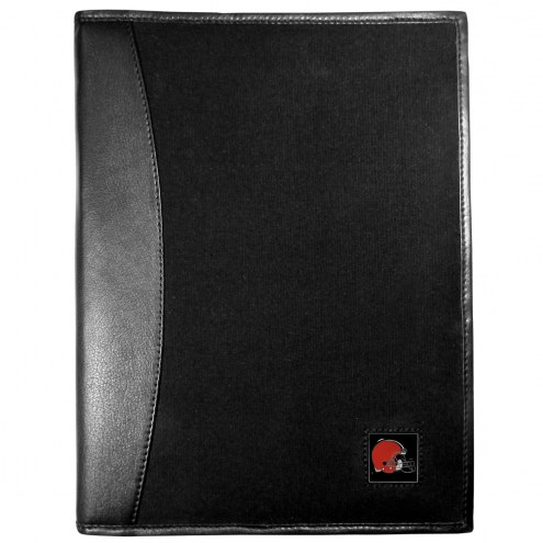Cleveland Browns Leather and Canvas Padfolio