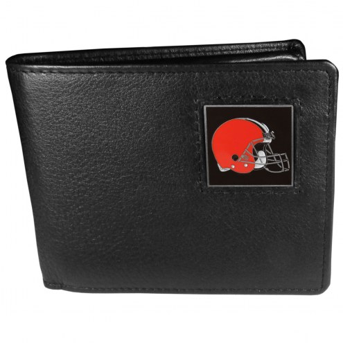 Cleveland Browns Leather Bi-fold Wallet in Gift Box