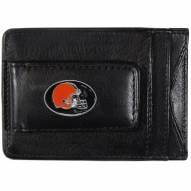 Cleveland Browns Leather Cash & Cardholder