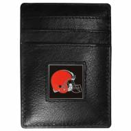 Cleveland Browns Leather Money Clip/Cardholder in Gift Box