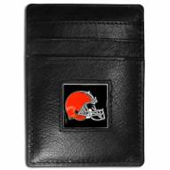 Cleveland Browns Leather Money Clip/Cardholder