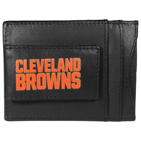 Cleveland Browns Logo Leather Cash and Cardholder