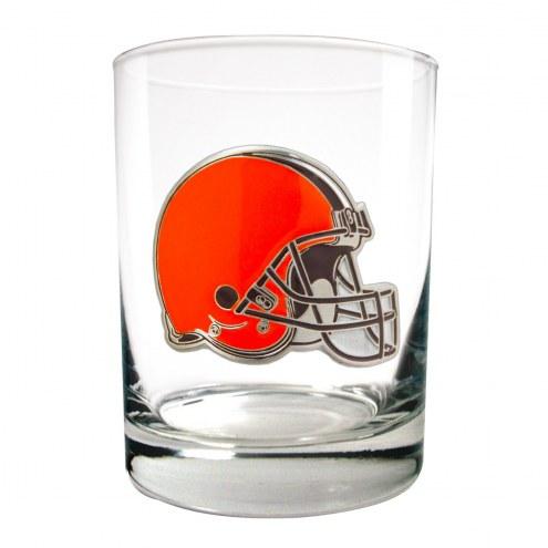 Cleveland Browns Logo Rocks Glass - Set of 2