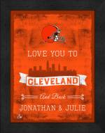 Cleveland Browns Love You to and Back Framed Print