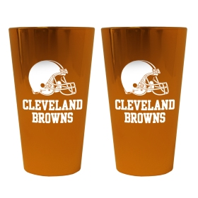 Cleveland Browns Lusterware Pint Glass - Set of 2