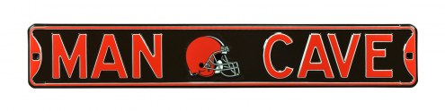 Cleveland Browns Man Cave Street Sign