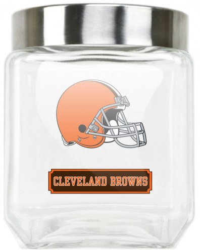 Cleveland Browns Medium Glass Canister