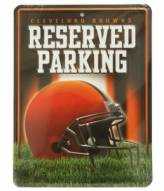 Cleveland Browns Metal Parking Sign