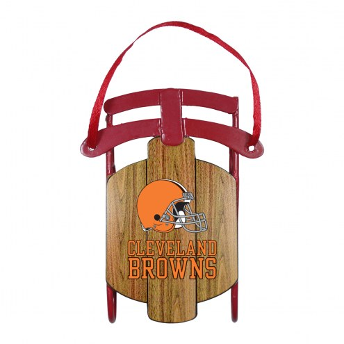 Cleveland Browns Metal Sled Tree Ornament