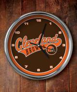 Cleveland Browns NFL Chrome Wall Clock