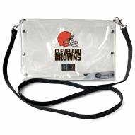 Cleveland Browns Clear Envelope Purse
