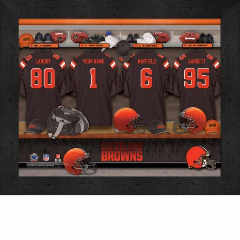 Cleveland Browns NFL Personalized Locker Room 11 x 14 Framed Photograph