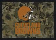 Cleveland Browns NFL Team Camo Area Rug