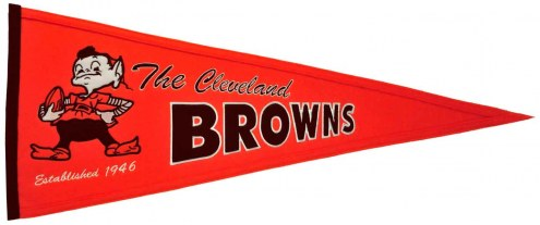 Cleveland Browns NFL Throwback Pennant