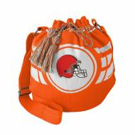 Cleveland Browns Orange Ripple Drawstring Bucket Bag