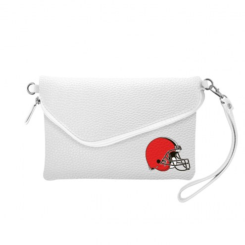 Cleveland Browns Pebble Fold Over Purse
