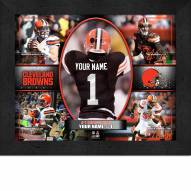 Cleveland Browns Personalized 11 x 14 Framed Action Collage