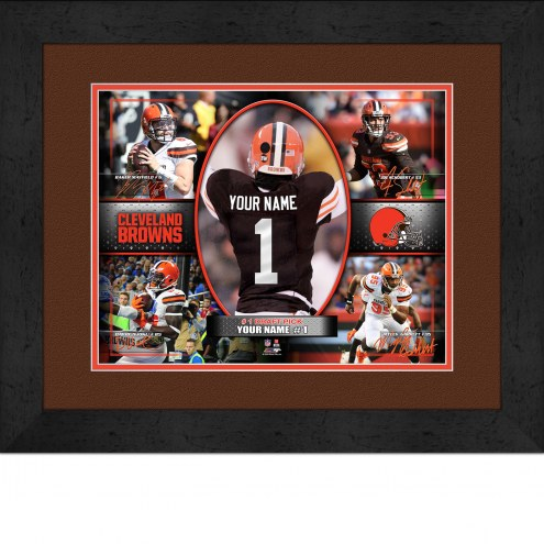 Cleveland Browns Personalized 13 x 16 Framed Action Collage