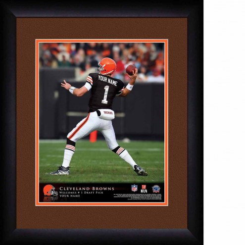 Cleveland Browns Personalized 13 x 16 NFL Action QB Framed Print