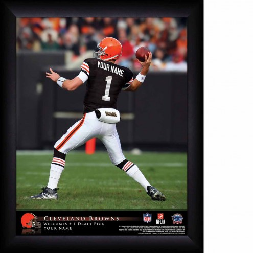 Cleveland Browns Personalized 11 x 14 NFL Action QB Framed Print