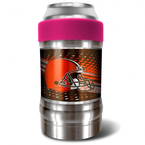 Cleveland Browns Pink 12 oz. Locker Vacuum Insulated Can Holder