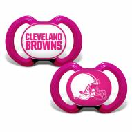 Cleveland Browns Pink Baby Pacifier 2-Pack