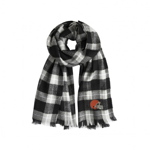 Cleveland Browns Plaid Blanket Scarf