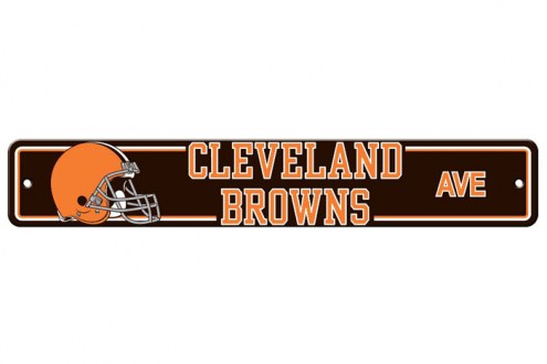 Cleveland Browns Plastic Street Sign