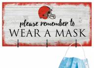 Cleveland Browns Please Wear Your Mask Sign