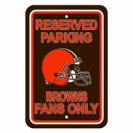 Cleveland Browns Reserved Parking Sign