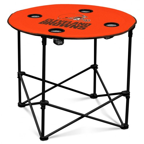Cleveland Browns Round Folding Table