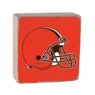 Cleveland Browns Rustic Block