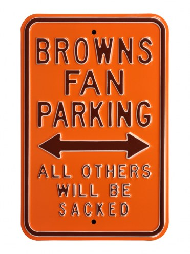 Cleveland Browns Sacked Parking Sign