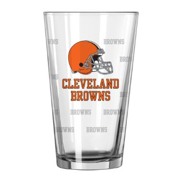 Cleveland Browns Satin Etch Pint Glass - Set of 2