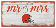 Cleveland Browns Script Mr. & Mrs. Sign
