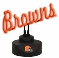 Cleveland Browns Script Neon Desk Lamp