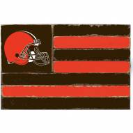Cleveland Browns Small Flag Wall Art