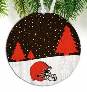 Cleveland Browns Snow Scene Ornament